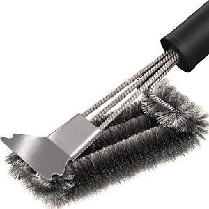 18 Grill Brush Cleaner Grilling BBQ Tool Cleaning Stainless Steel Woven Wire