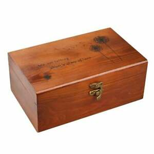 Wooden Sewing Basket with Sewing Kit Accessories Vintage Style Organize Box $25.99