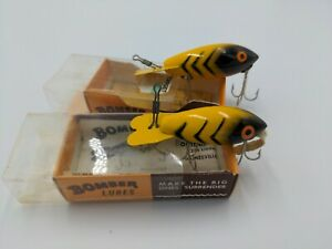 Vintage BOMBER Lure #420 Bomber lure #320 Matching Combo with Boxes amp; Papers