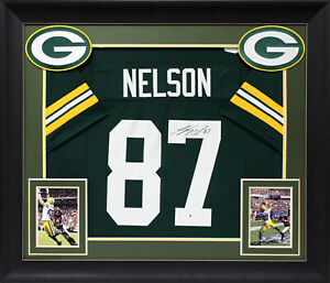 Jordy Nelson Authentic Signed Green Pro Style Framed Jersey BAS Witnessed $429.99