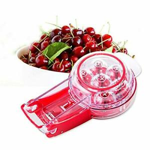 Hcman Professional Cherry Pitter Tool 6 Cherries Cherry Stone Remover with P