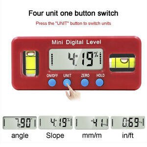 nw Mini Digital Protractor Inclinometer Magnetic Angle Finder Level Gauge $12.63