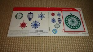 INSPIRA SEASONS IN LACE ORNAMENTS AS SHOWN $9.25