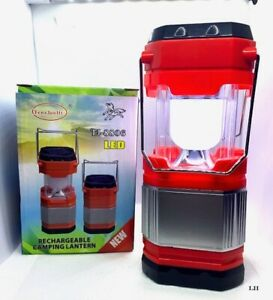 SOLAR RECHARGEABLE CAMPING LANTERN LED Red