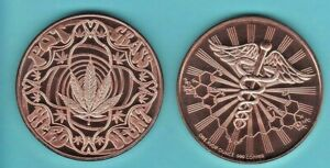 CANNABIS 1 oz. Copper Round Coin GOOD VIBES ONLY design