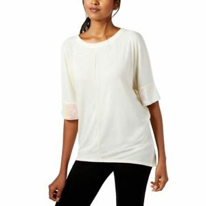 CABLE GUAGE NEW Womens Dolman sleeve Sequined Knit Blouse Shirt Top TEDO $9.99