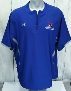 UNDER ARMOUR XL Loose All Season Gear 1 4 Zip Blue Sports at the Beach Champs $21.99