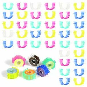 100 Pieces Sewing Bobbin Clip 5 Colors Small Clamps Holder Colorful Plastic T... $15.66