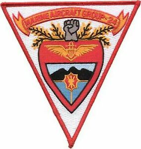 4.5quot; MARINE CORPS MAG 24 AIRCRAFT GROUP MILITARY TRIANGLE EMBROIDERED PATCH $19.99