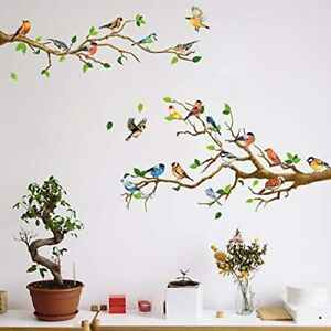 Birds Wall Decals Decorations DIY Wall Stickers Over The Garden Wall Decal