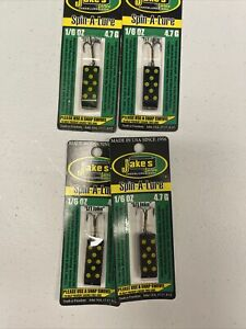 JAKE#x27;S JAKES SPIN A LURE BLACK 6 PACK 1 6 oz
