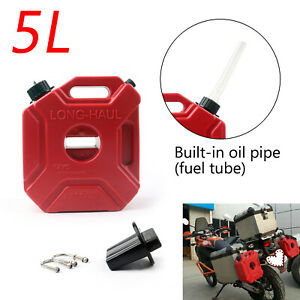 Motorcycle 5L Plastic Jerry Cans Gas Diesel Fuel Tank w Lock SUV ATV Scooter UN $37.89