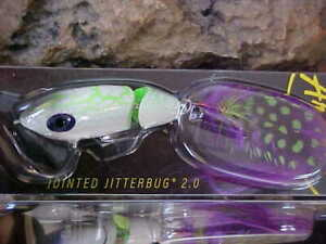 ARBOGAST G621 536 Jointed 2.0 Jitterbug 3 8oz WHITE ZOMBIE TopWater Fishing Lure