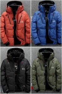 High Quality Under Armour Winter Mens UA Down Hooded Jacket Down Coat Parka New $12.98