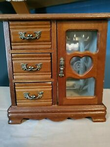 Small Wooden Vintage Jewelry Box $30.00