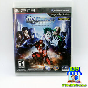 DC Universe Online Sony PlayStation 3 PS3 Video Game Complete w Manual