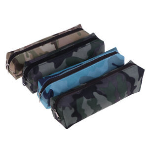 1Pc canvas pencil case camouflage for boy military school supplies stationeY ZC