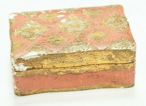 Antique Florentia Wooden Box Hand Made in Italy $32.00