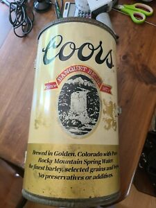 Vintage Rare Coors Beer Can Do Fold Out BBQ Barbeque Tailgate Picnic Grill NICE
