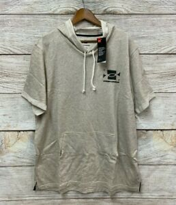 Under Armour Hoodie Mens Size 3XL 54quot; Chest Beige Loose Fit Pullover Knit New $43.49