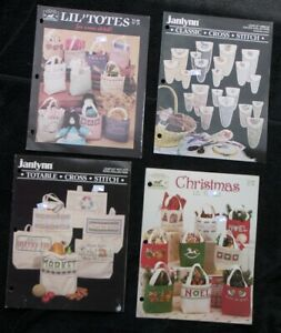 4 Cross Stitch Little Lil#x27; Totes Christmas Totes Totables Scissors Sewing Cases $9.99