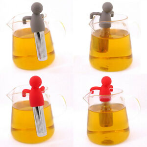 Stainless Steel Silicone Human Shaped Tea Strainer Tea Infuser Reusable Filter