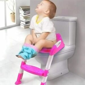 Baby Kids Training Toilet Potty Trainer Seat Chair Toddler Ladder Step Up Stool $18.59