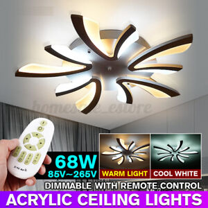 5 HEAD Modern Ceiling Light LED Acrylic Lamp Chandeliers For Living Room Bedroom $63.99