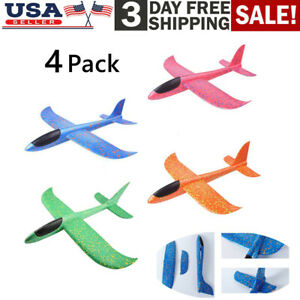 4Pcs Kids Toy Hand Launch Throwing Glider Aircraft Foam EPP Airplane Plane Model