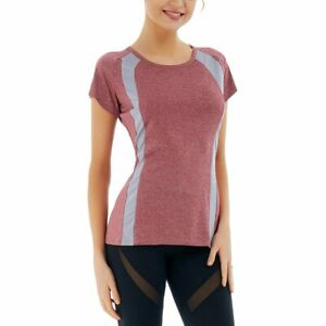 Running T Shirts for Women Stretchy Short Sleeve Tops Summer Activewear EH $6.99