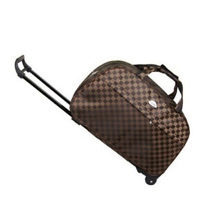 24quot; Rolling Wheeled Bag Travel Carry On Luggage Waterproof Tote Trolley Suitcase