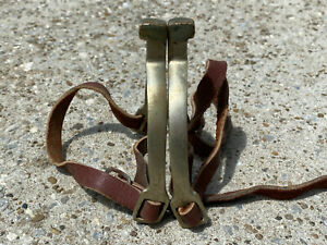 Never Rust England English Horse Riding Spurs w Leather Straps Vintage
