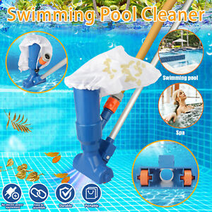 Swimming Pool Spa Suction Vacuum Head Cleaner Cleaning Kit Accessories Tool Blue