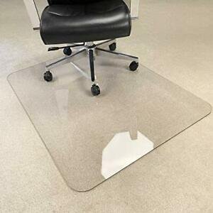 Upgraded Version Crystal Clear 1 5 Thick 47 x 35 Heavy Duty Hard Chair Mat