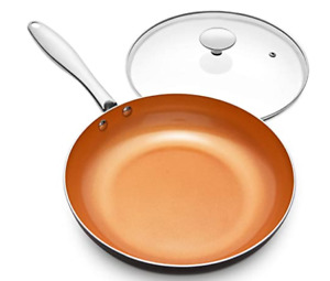 Frying Pan with Lid Nonstick 8 Inch Frying Pan with Ceramic Titanium Coating