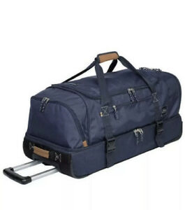 The Skyway Luggage Co. 2 Compartment Rolling Duffel Bag 90 Liters Blue New