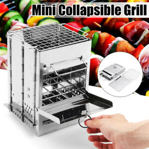 Portable Barbecue BBQ Grill Stove Compact Charcoal Outdoor Camping Cooker W