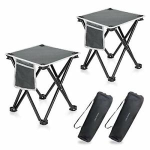 2 Pack Camping Stool For Outdoor Walking Hiking Fishing 400 LBS With Bag 13.8quot;