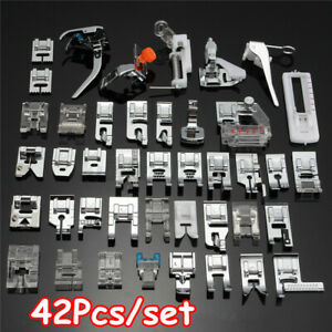 42PCS Domestic Sewing Machine Foot Presser Feet Set For Brother Singer Kit $19.99