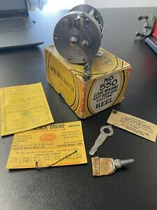 Vintage Fishing Reel South Bend No 550B With Original Box Grease POS Papers