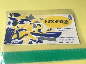 French 1950's Authentic Vintage Used Camping Advertising Ink Blotter 53700