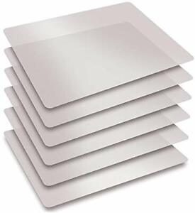 Extra Thick Flexible Frosted Clear Plastic Cutting Mats Set of 6