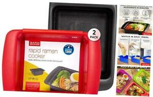 Rapid Ramen Cooker Microwave Ramen in 3 Minutes 2 Pack Mystery Red or Black