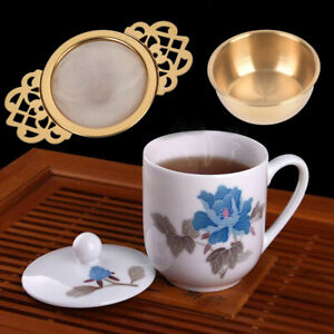 Stainless Steel Tea Strainer With Drip Bowl Traditional Hanging Infuser Filt je