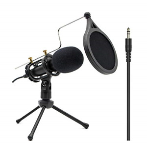 Condenser Recording Microphone 3.5mm Plug and Play PC Microphone Broadcast for $33.70
