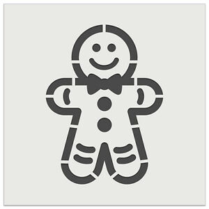Gingerbread Man Christmas Cookie Wall Cookie DIY Craft Reusable Stencil $10.99