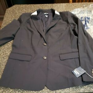 lands end 14 tall suit Jacket navy blue