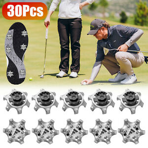 30Pcs Golf Shoes Shoe Spikes Soft Turn Fast Twist Replacement Cleat Screw in US