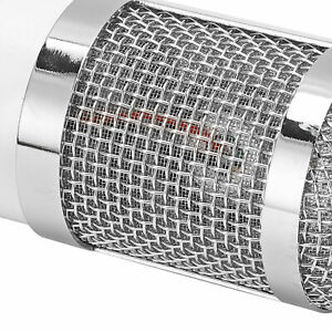 Microphone Broadcast Device For Phone Computer 20Hz‑20KHz White Round Head Style $25.74