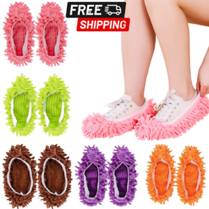 10 PCS 5 Pairs Dust Duster Mop Slippers Shoes Cover Multi Function Washable New